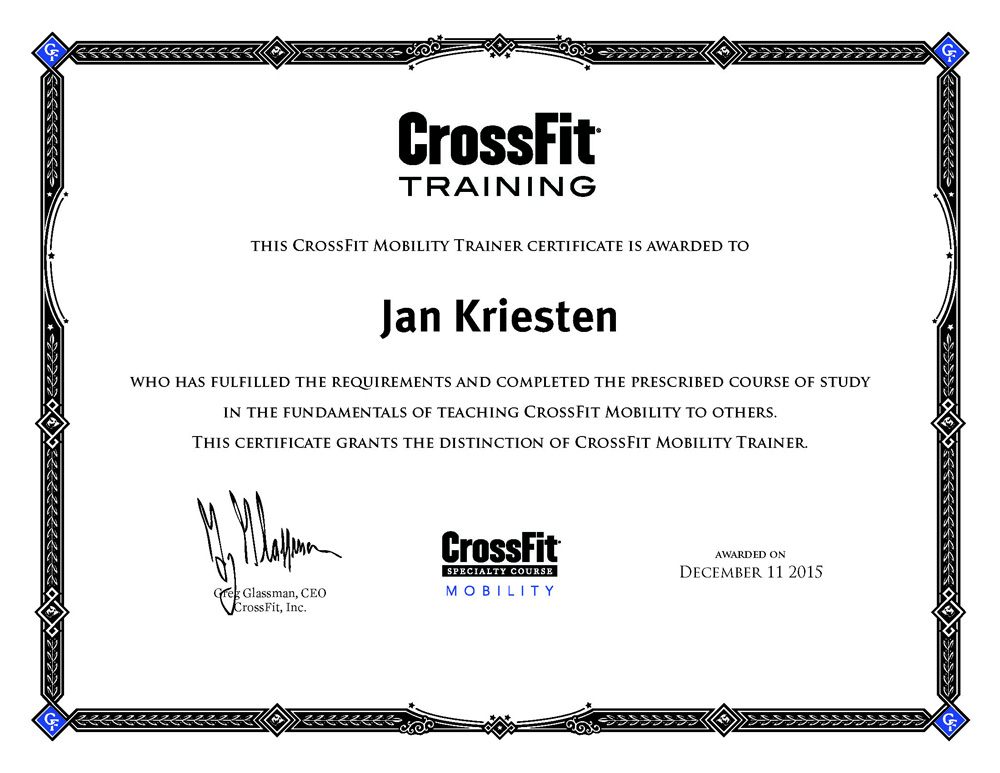 CrossFit Mobility Trainer